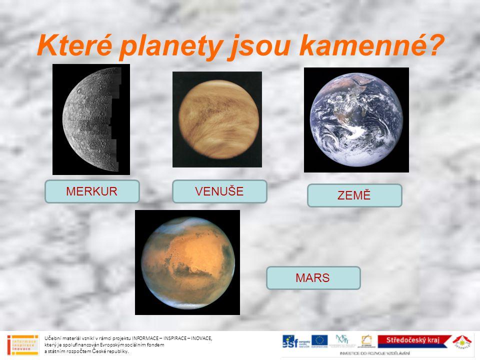 Které planety jsou kamenné