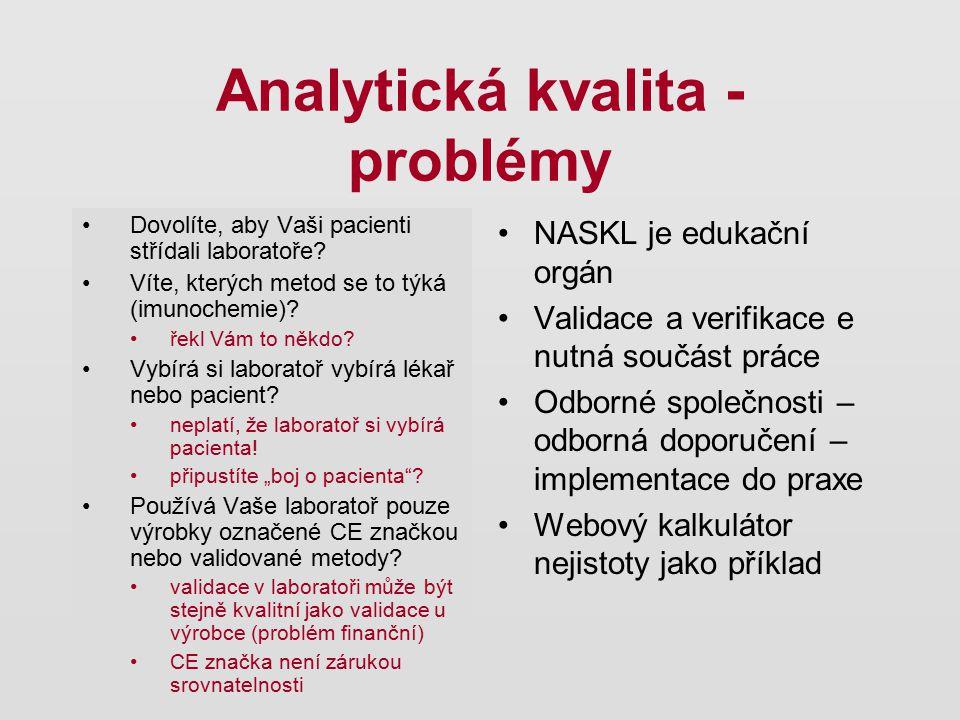 Analytická kvalita - problémy