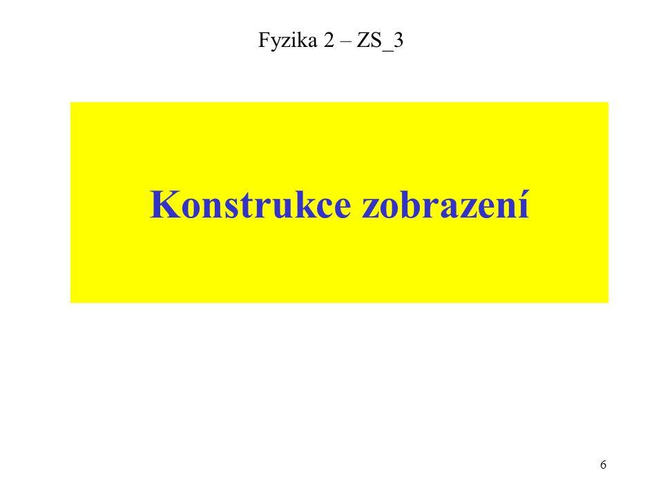 Fyzika 2 – ZS_3 Konstrukce zobrazení