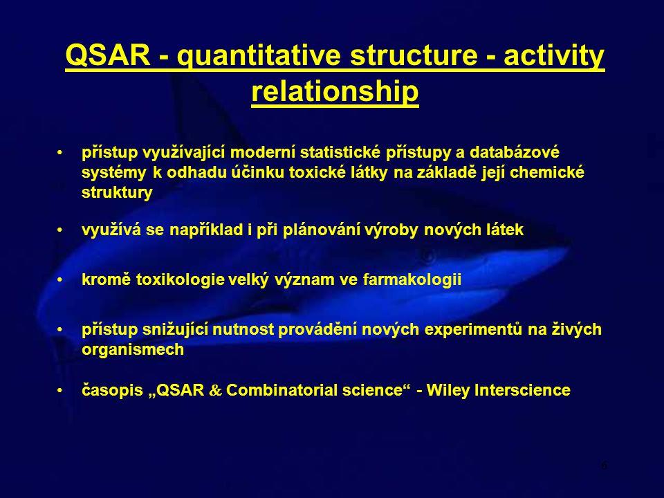 QSAR - quantitative structure - activity relationship