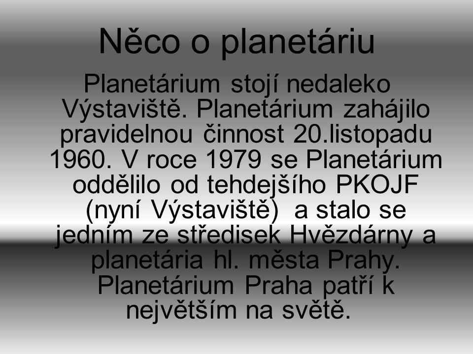 Něco o planetáriu