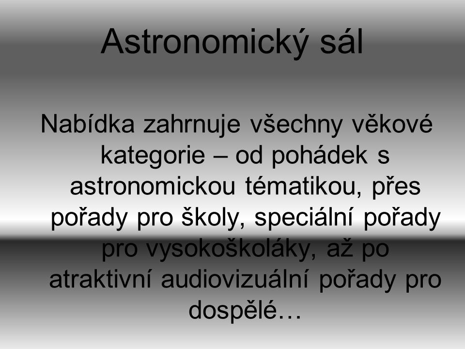 Astronomický sál