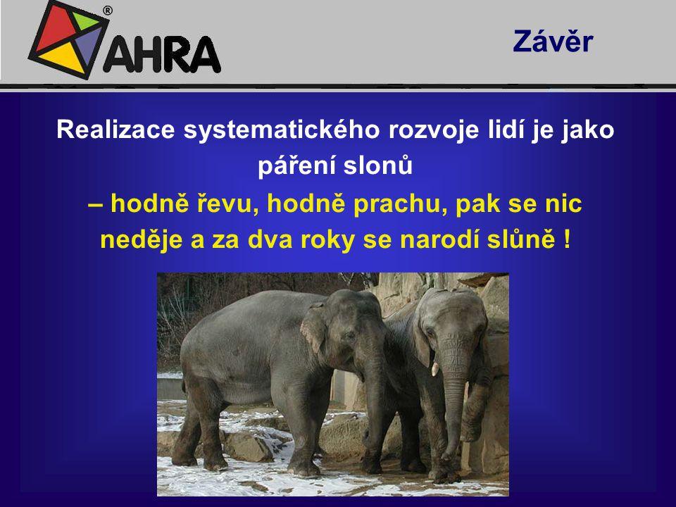 Realizace systematického rozvoje lidí je jako páření slonů