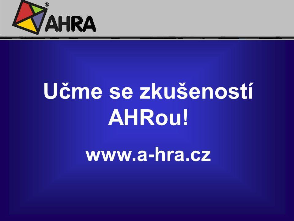 Učme se zkušeností AHRou!
