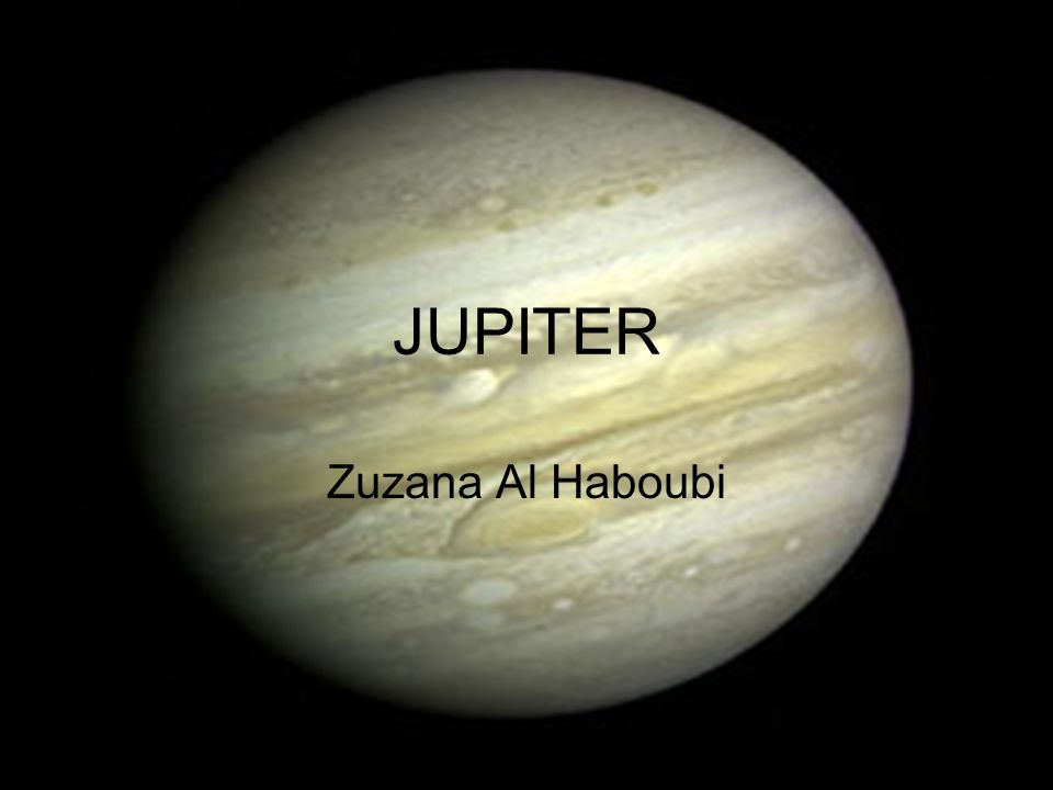 JUPITER Zuzana Al Haboubi