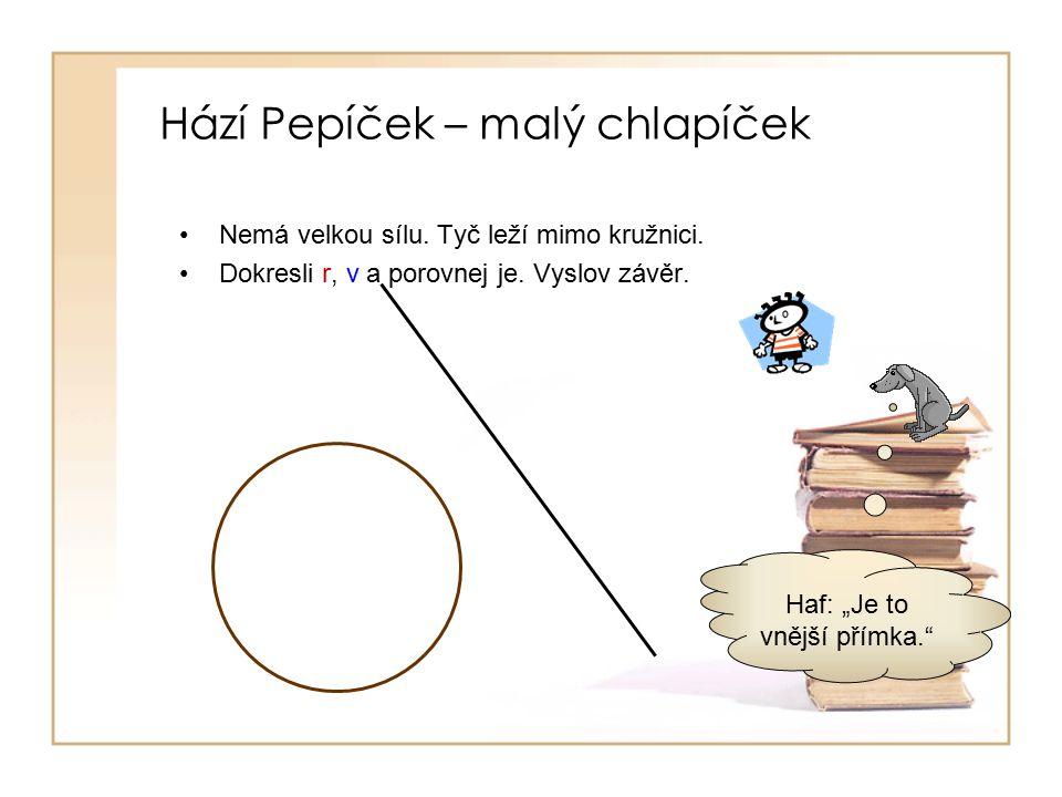 Hází Pepíček – malý chlapíček