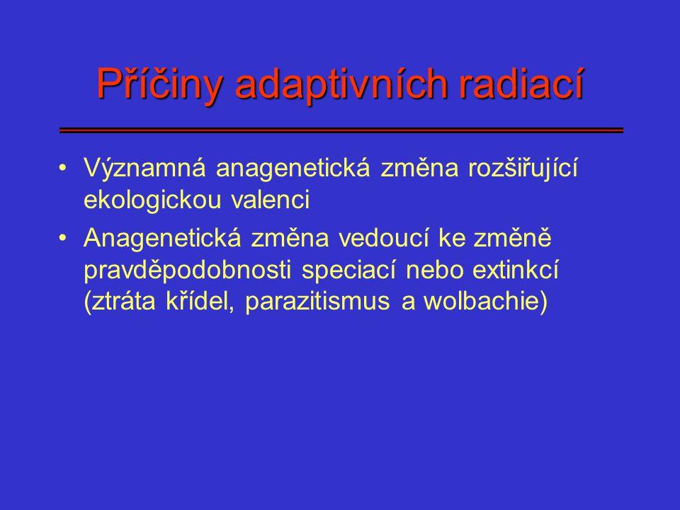 Příčiny adaptivních radiací