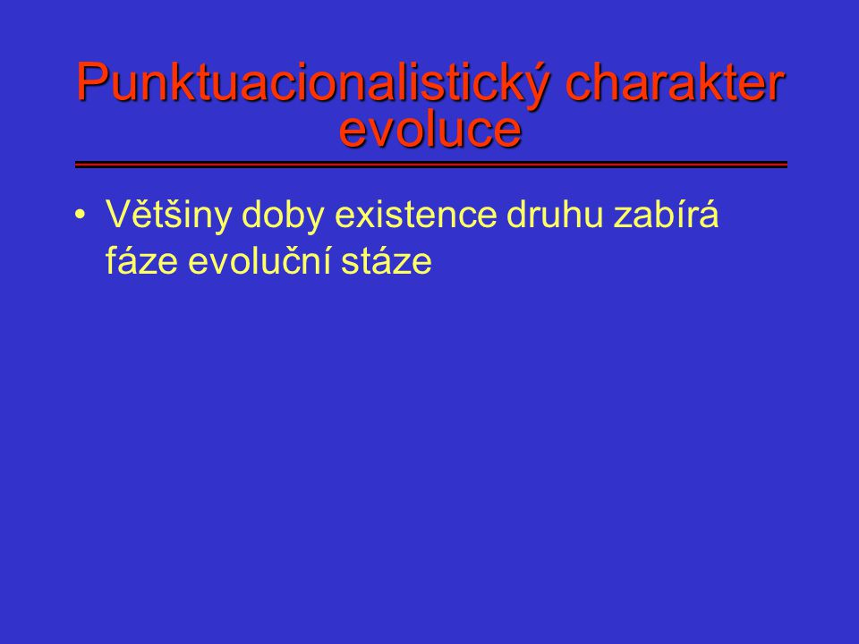 Punktuacionalistický charakter evoluce