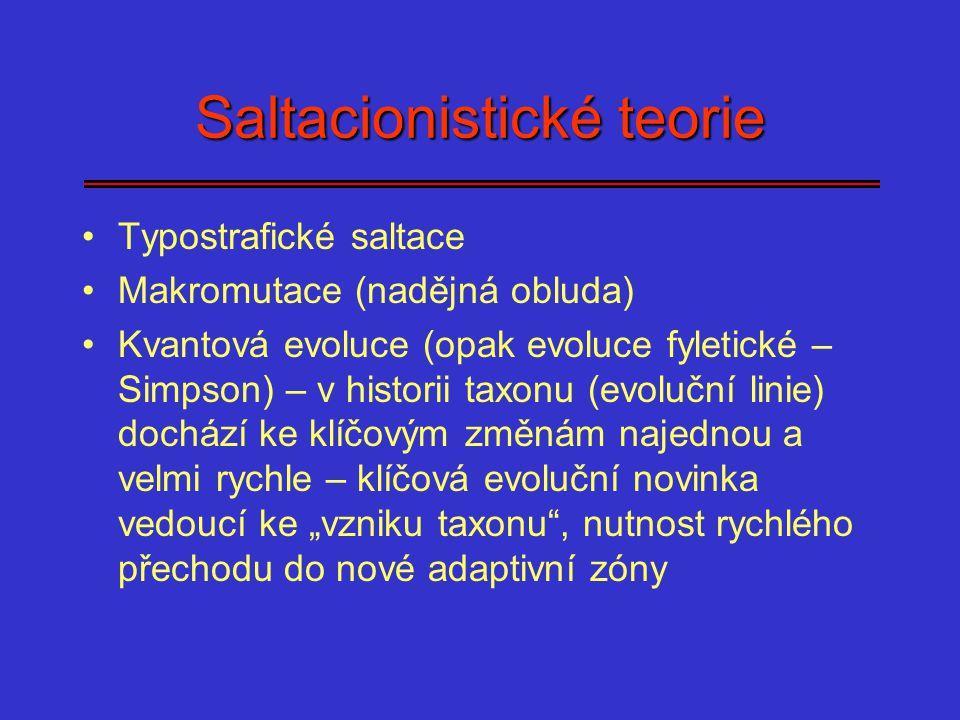 Saltacionistické teorie