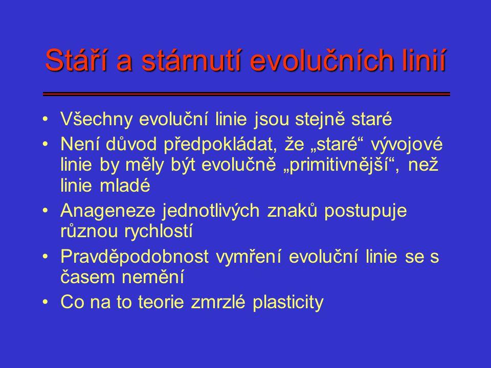 Stáří a stárnutí evolučních linií