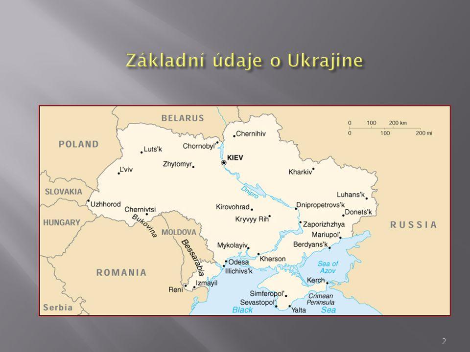 Základní údaje o Ukrajine