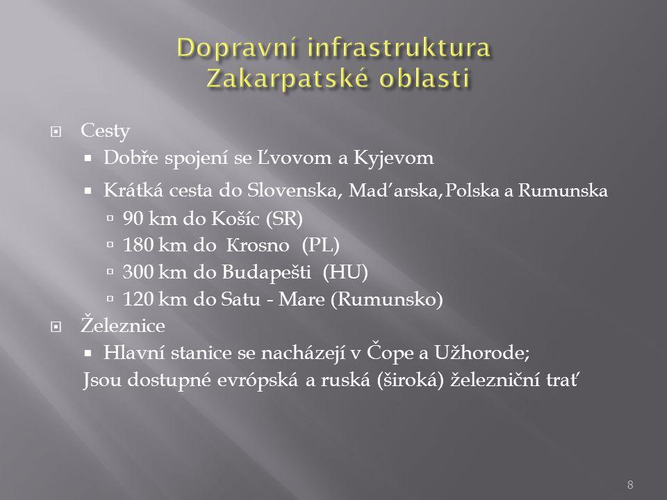 Dopravní infrastruktura Zakarpatské oblasti