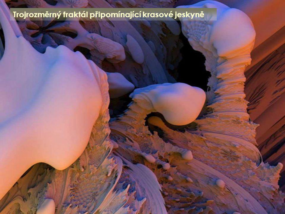 Trojrozměrný fraktál připomínající krasové jeskyně
