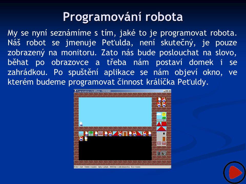 Programování robota