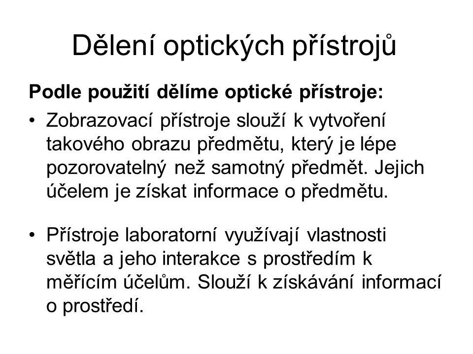Dělení optických přístrojů