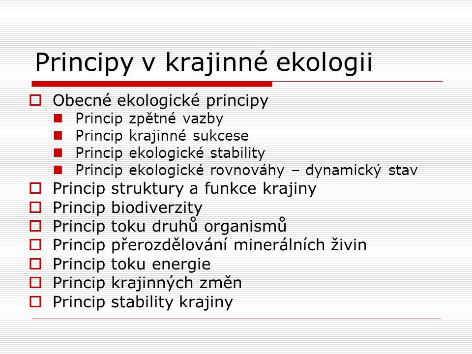 Principy v krajinné ekologii