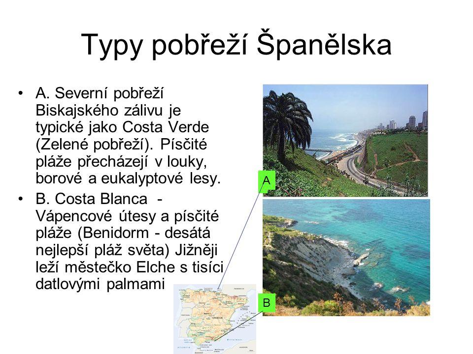 Typy pobřeží Španělska