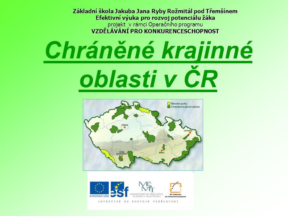Chráněné krajinné oblasti v ČR