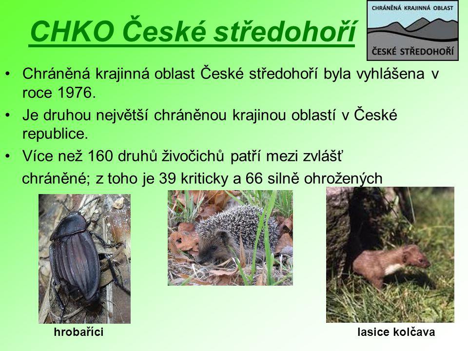CHKO České středohoří Chráněná krajinná oblast České středohoří byla vyhlášena v roce 1976.