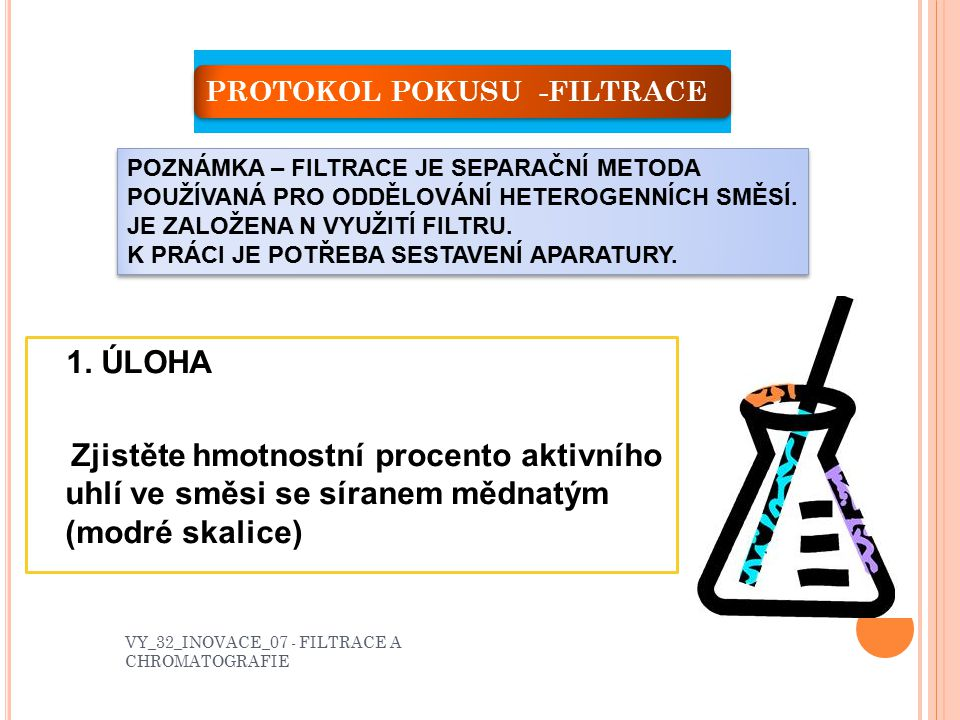 PROTOKOL POKUSU -FILTRACE