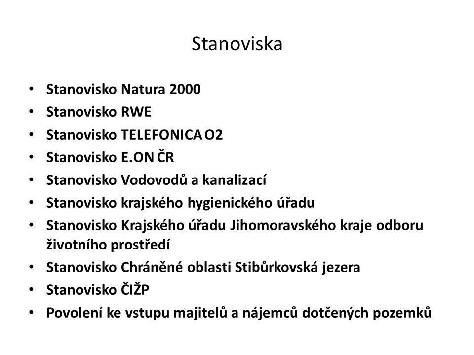 Stanoviska Stanovisko Natura 2000 Stanovisko RWE