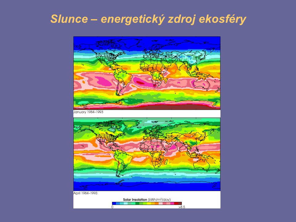Slunce – energetický zdroj ekosféry