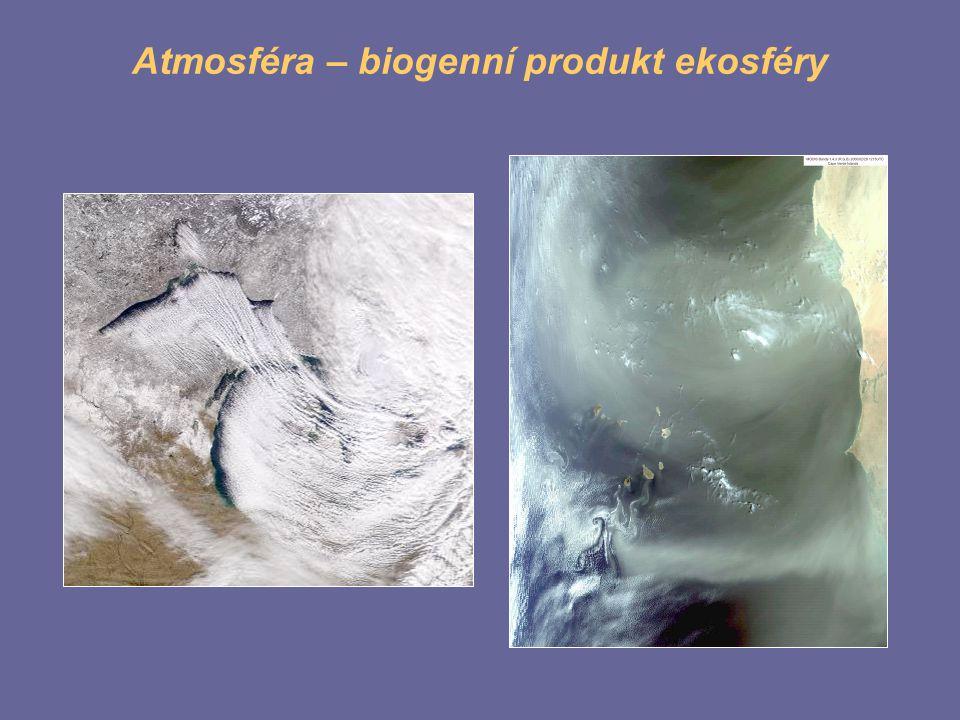 Atmosféra – biogenní produkt ekosféry