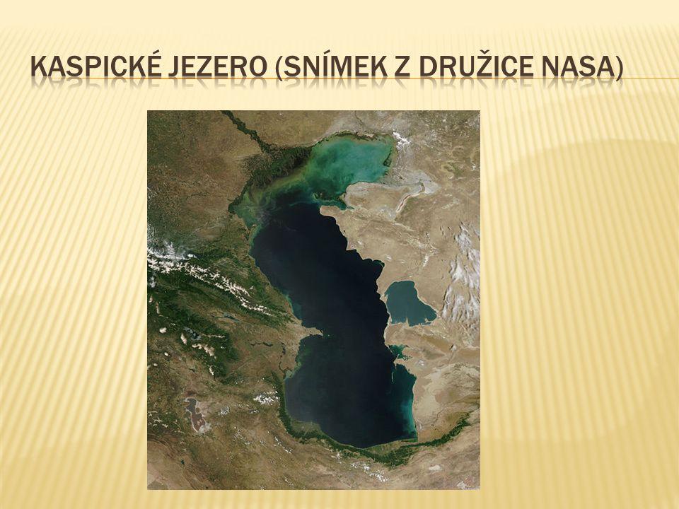 Kaspické jezero (snímek z družice nasa)