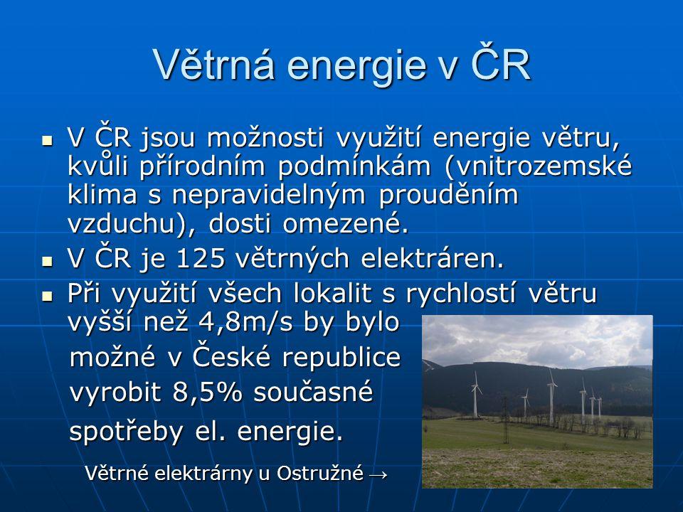 Větrná energie v ČR