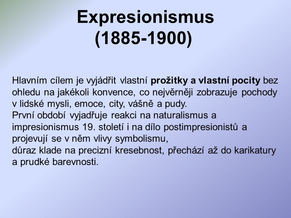 Expresionismus (1885-1900)