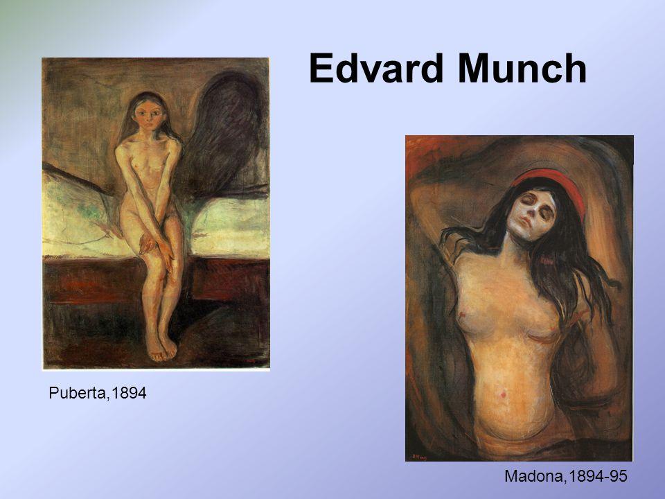 Edvard Munch Puberta,1894 Madona,1894-95