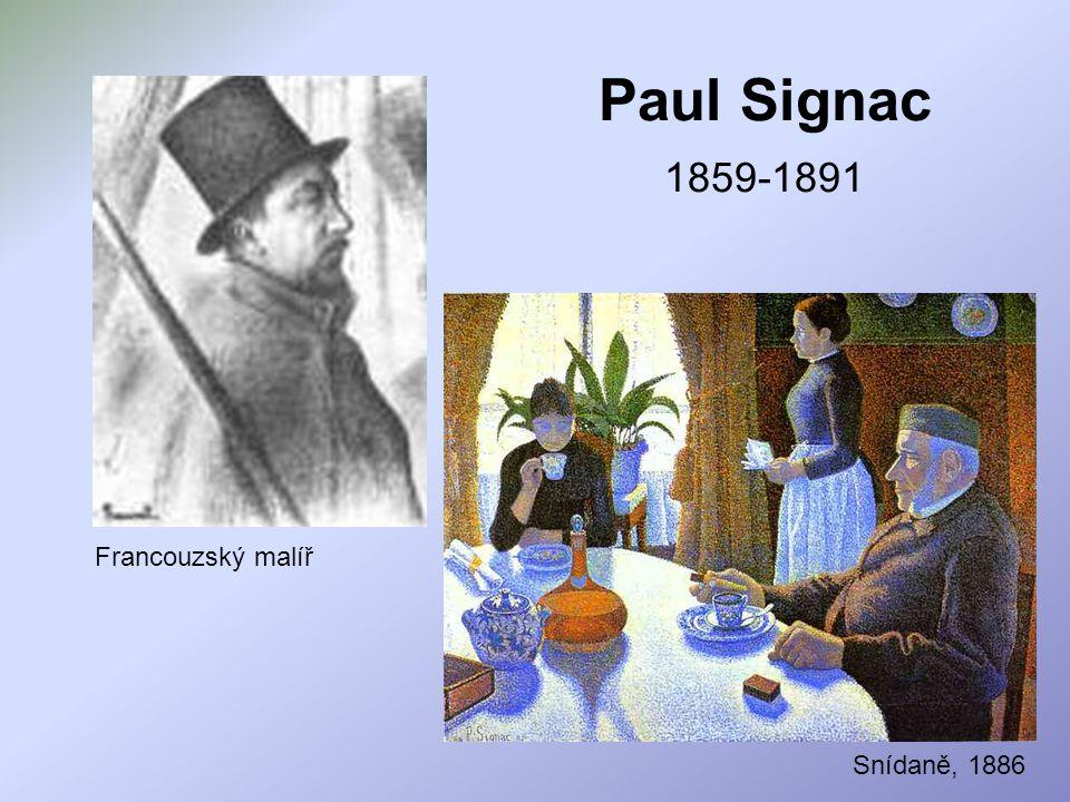 Paul Signac 1859-1891 Francouzský malíř Snídaně, 1886