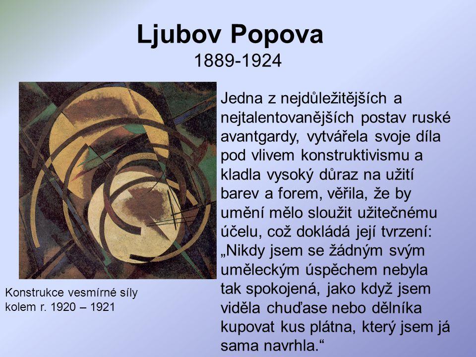 Ljubov Popova 1889-1924