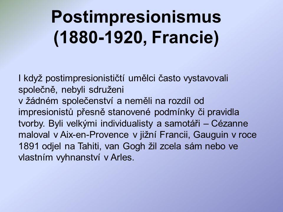 Postimpresionismus (1880-1920, Francie)