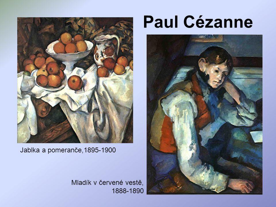 Paul Cézanne Jablka a pomeranče,1895-1900