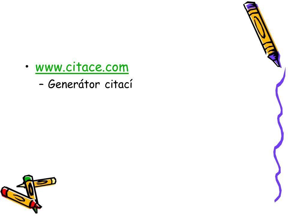 www.citace.com Generátor citací