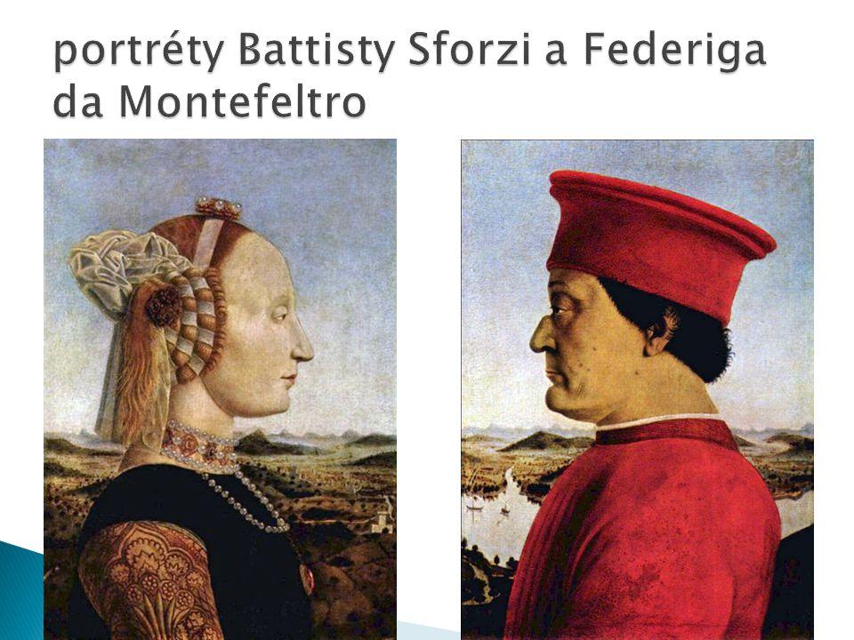 portréty Battisty Sforzi a Federiga da Montefeltro