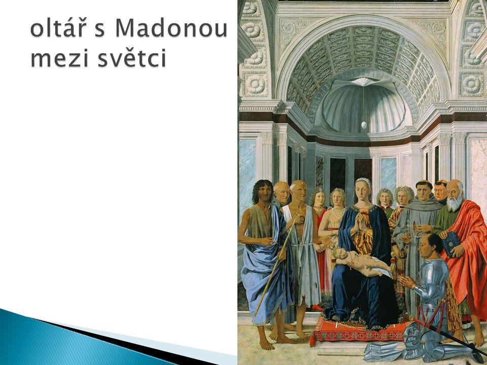 oltář s Madonou mezi světci
