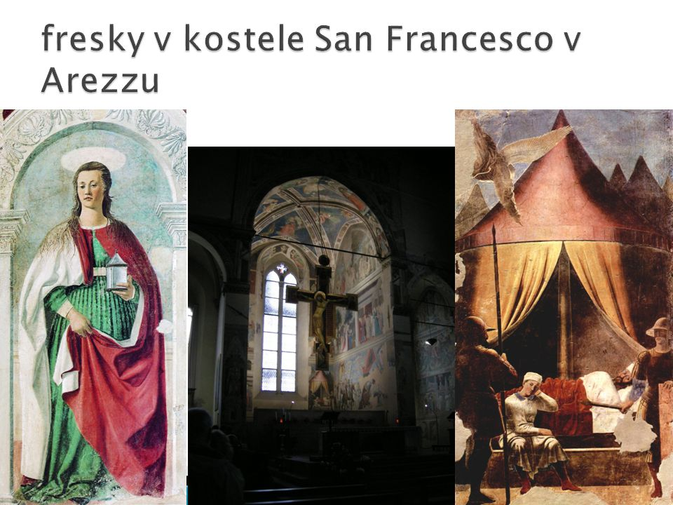 fresky v kostele San Francesco v Arezzu