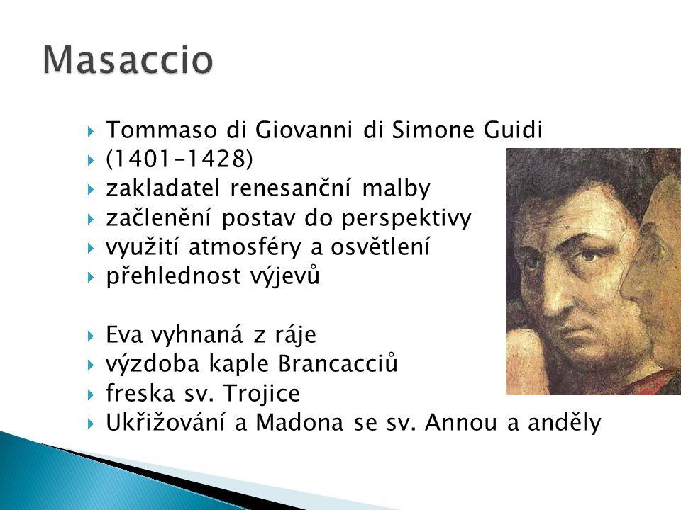 Masaccio Tommaso di Giovanni di Simone Guidi (1401-1428)