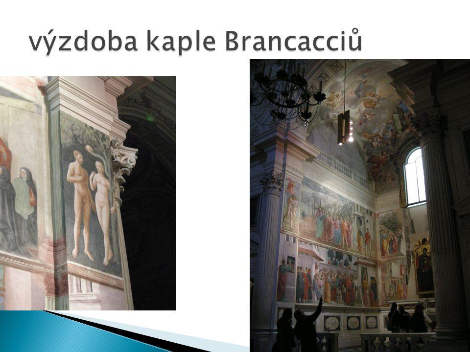 výzdoba kaple Brancacciů