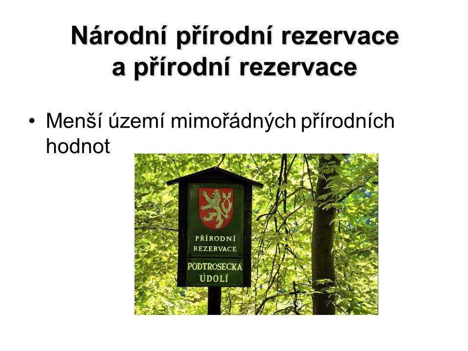 Národní přírodní rezervace a přírodní rezervace