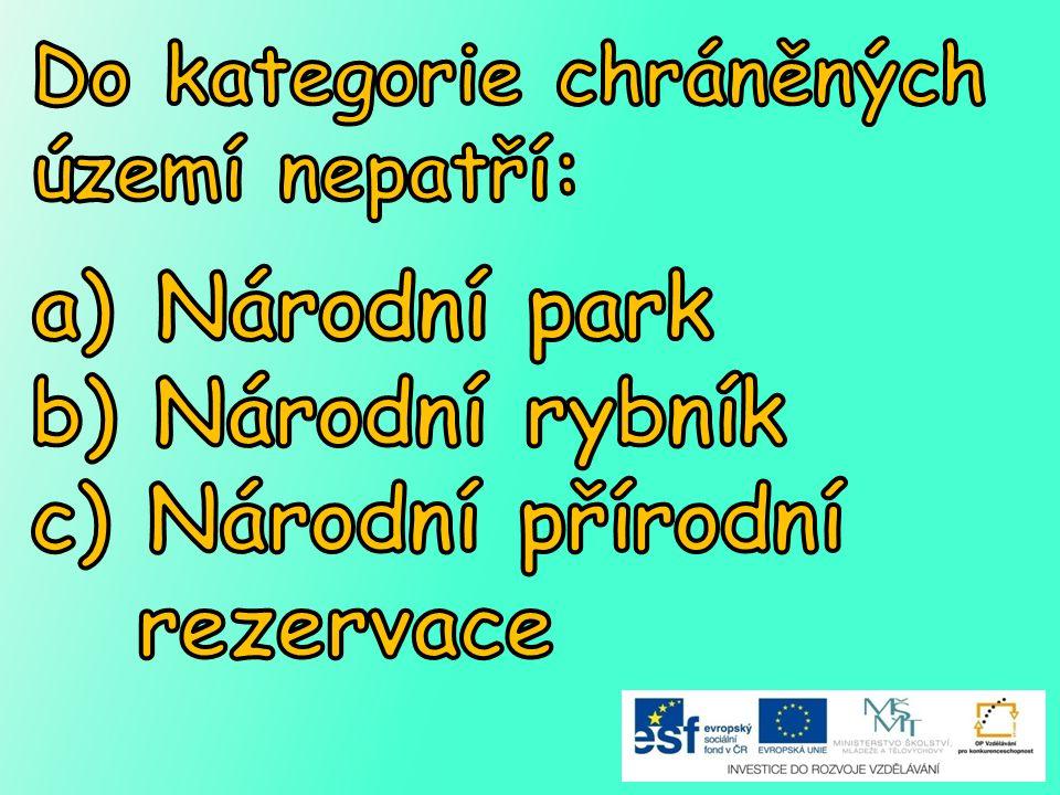 c) Národní přírodní rezervace