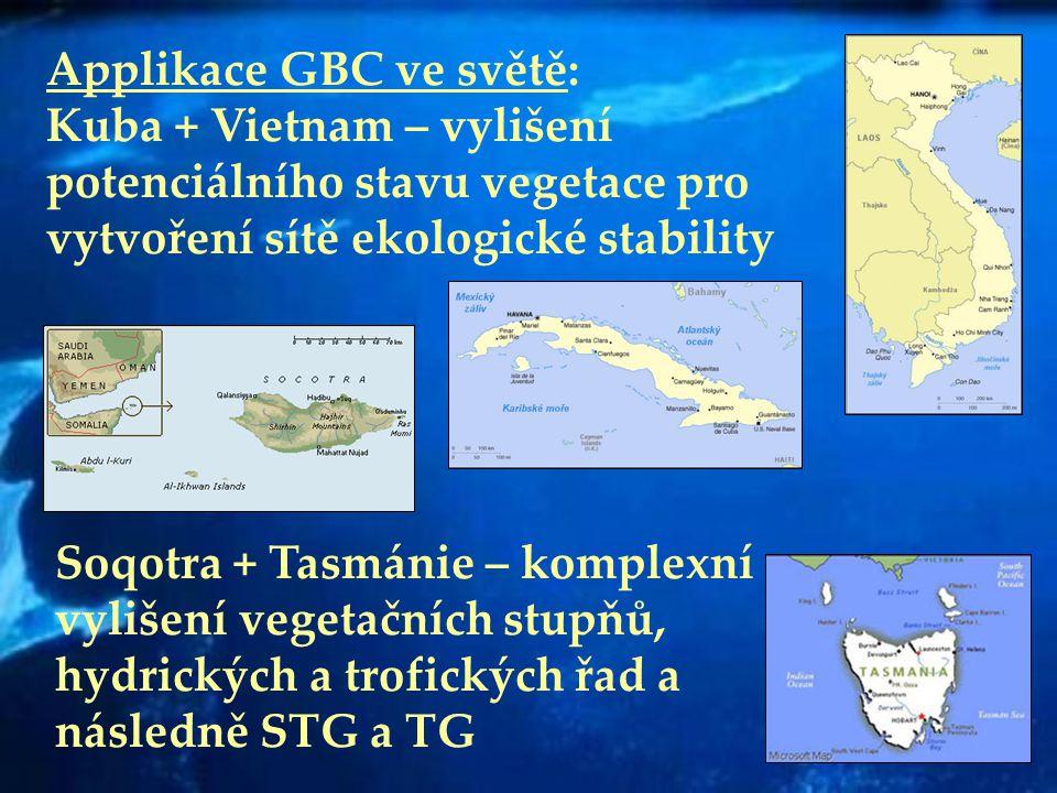 Applikace GBC ve světě: