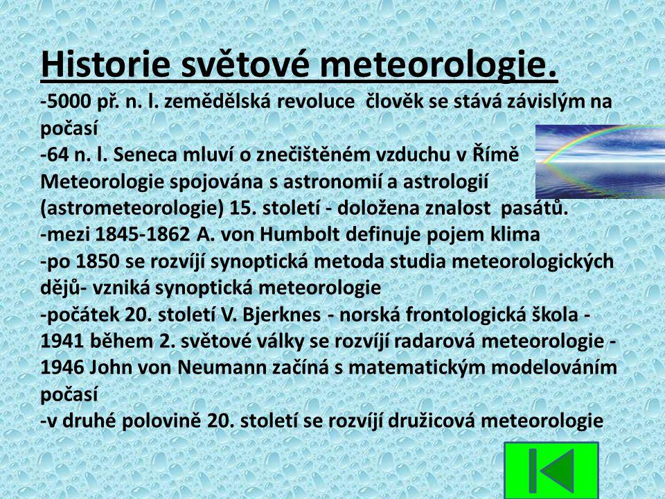 Historie světové meteorologie. -5000 př. n. l