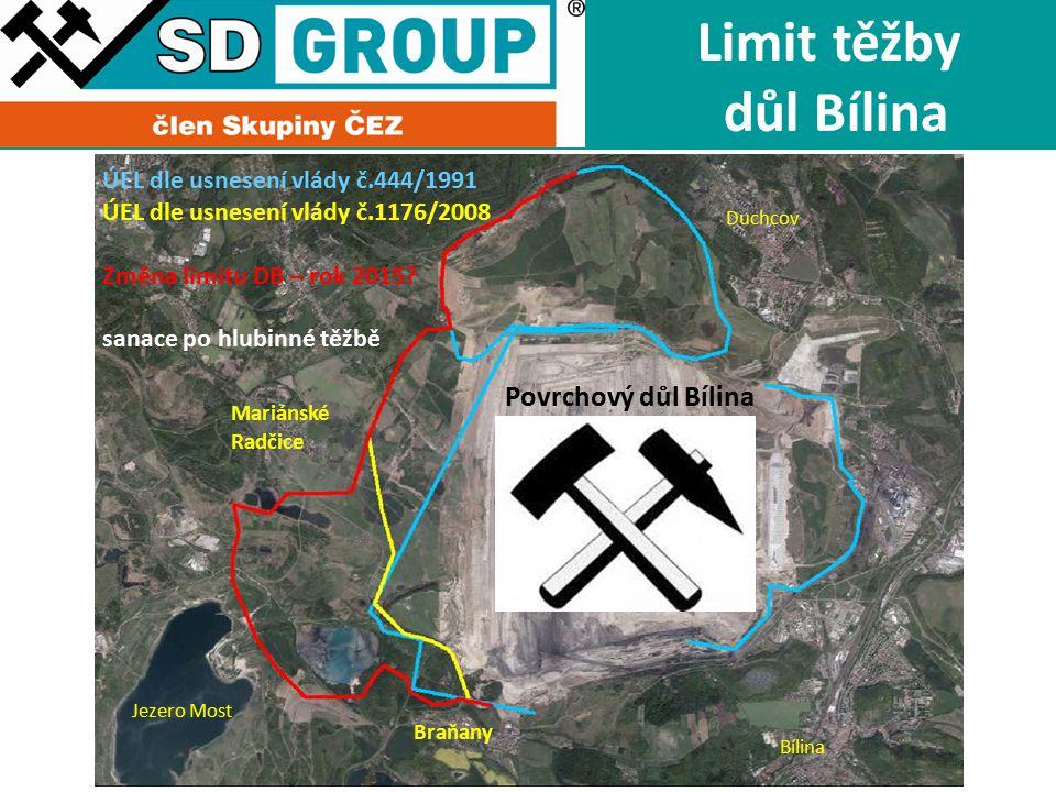 Limit těžby důl Bílina Povrchový důl Bílina