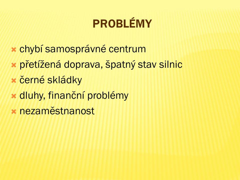 Problémy chybí samosprávné centrum