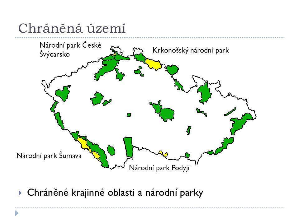 Chráněná území Chráněné krajinné oblasti a národní parky