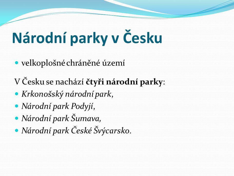 Národní parky v Česku velkoplošné chráněné území