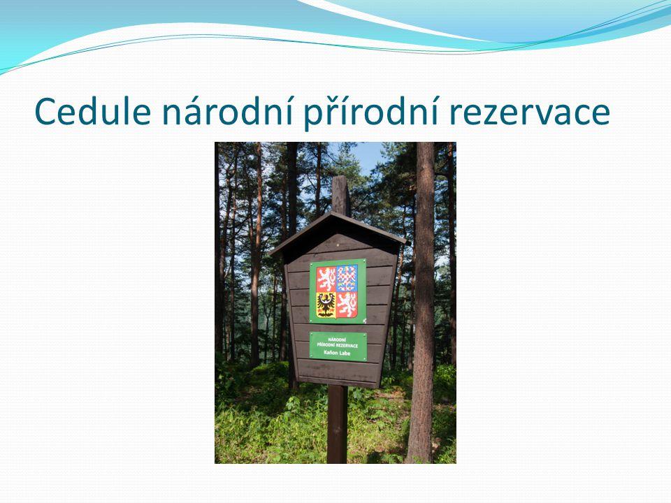Cedule národní přírodní rezervace